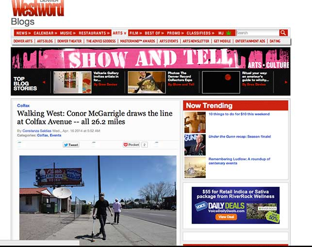 Westword on Walking West