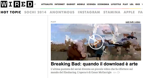 Breaking Bad in Wired Italy